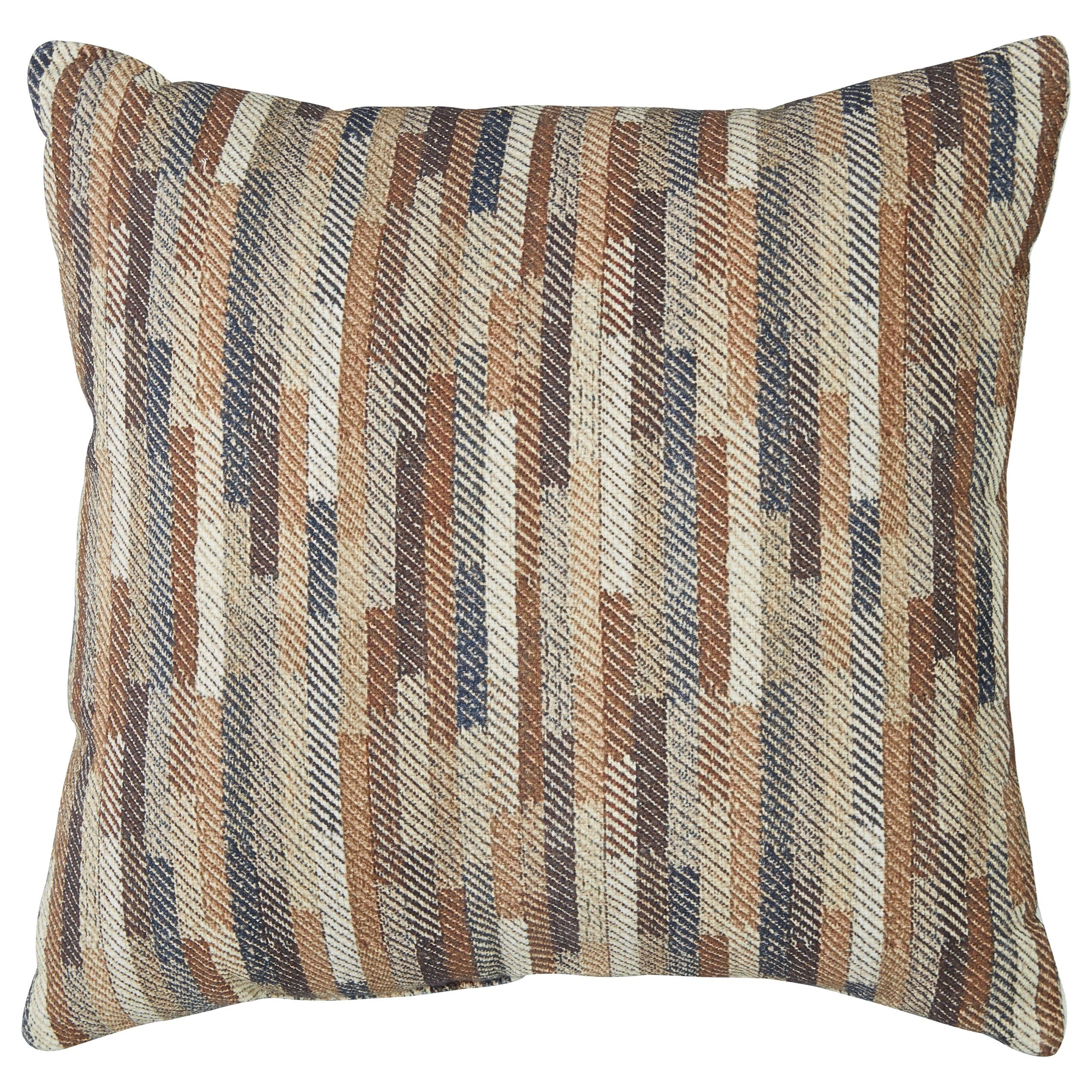 Daru Cream/Brown/Blue Pillow