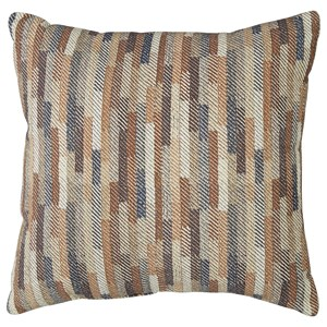 Signature Design by Ashley Pillows Daru Cream/Brown/Blue Pillow