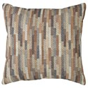 Trendz Pillows Daru Cream/Brown/Blue Pillow - Item Number: A1000255P