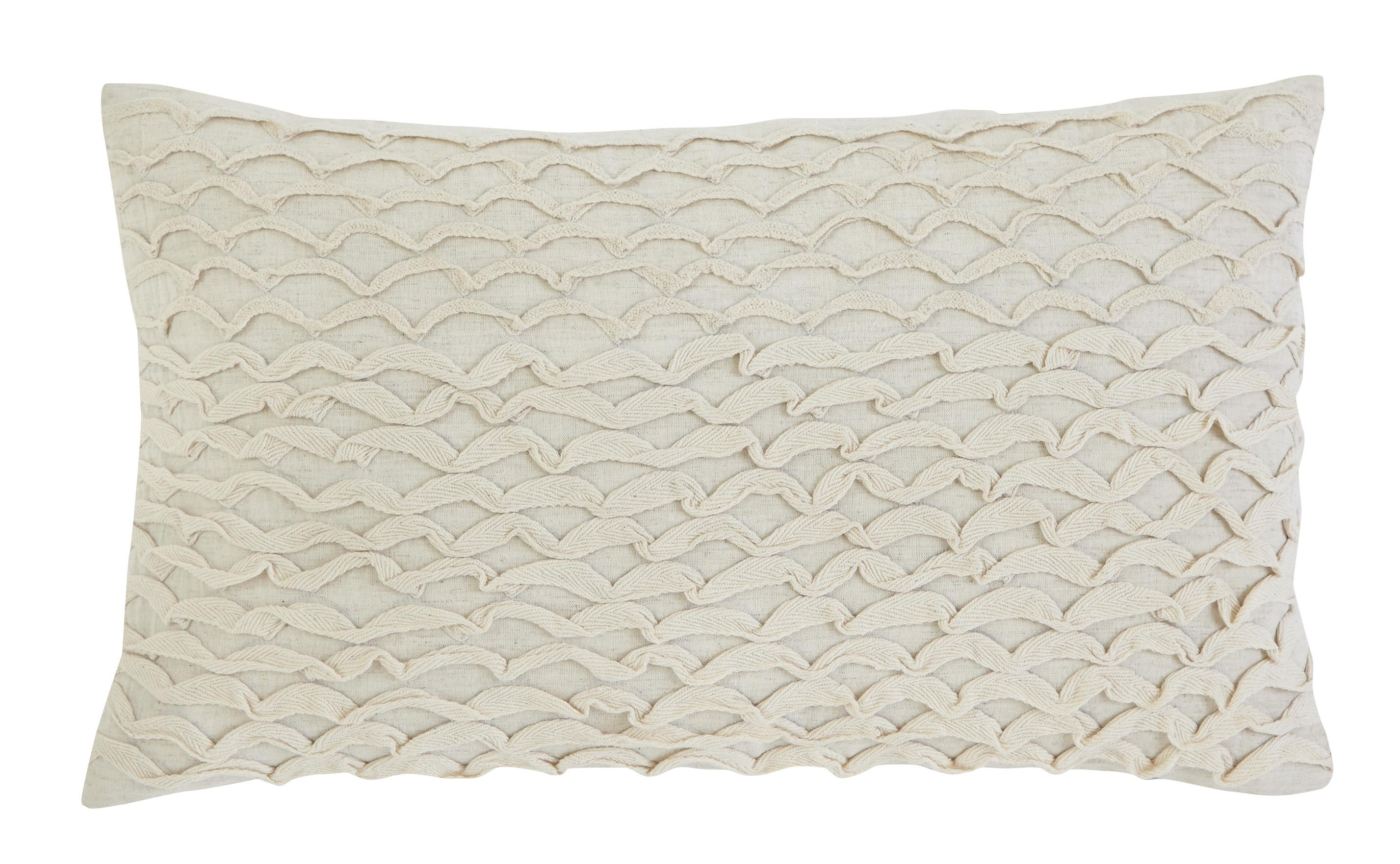 Signature Design by Ashley Pillows Stitched - Beige Lumbar Pillow - Item Number: A1000265P