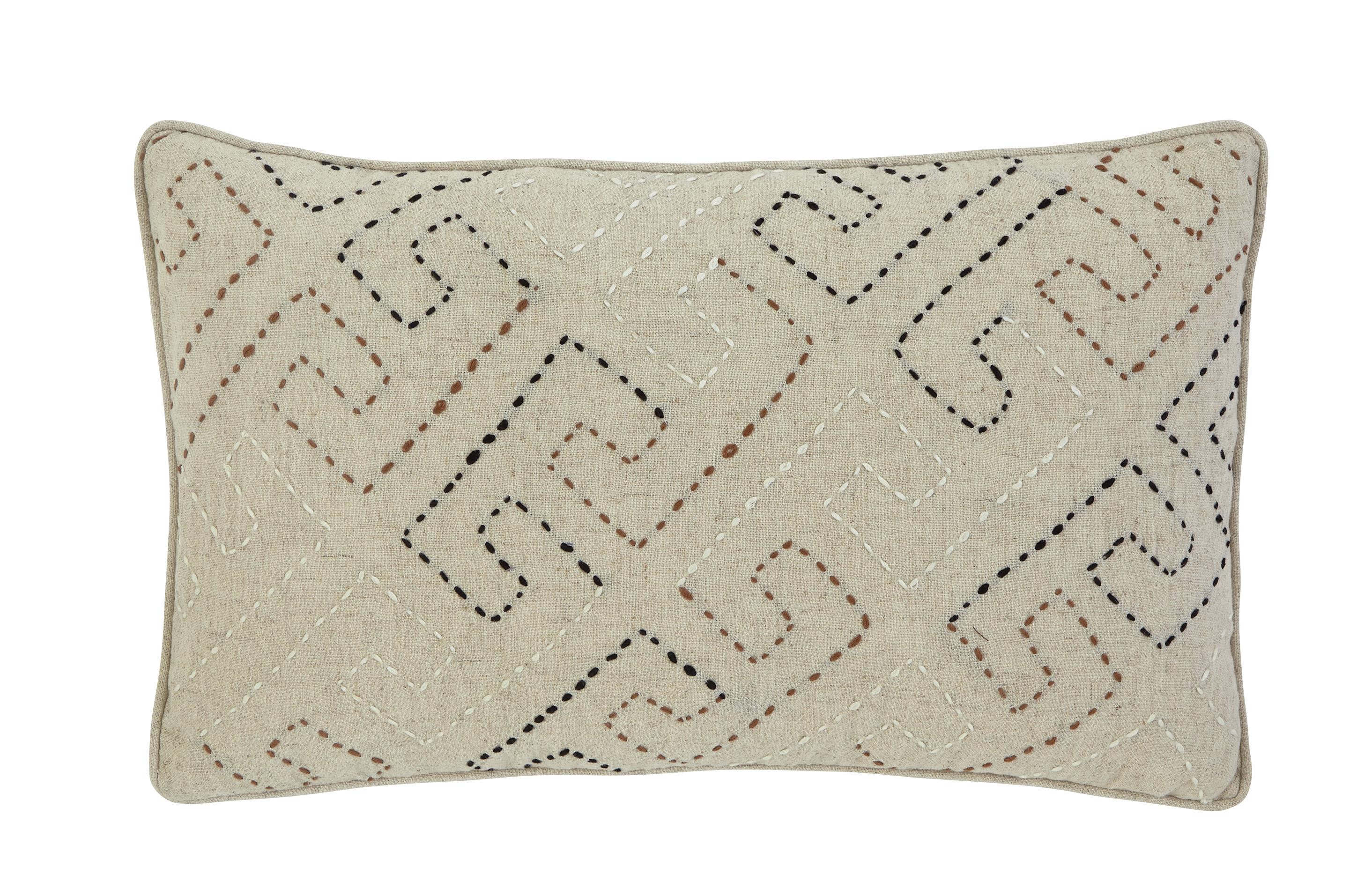 Signature Design by Ashley Pillows Stitched - Natural Lumbar Pillow - Item Number: A1000288P