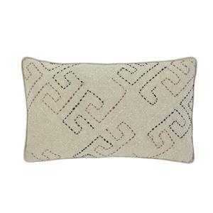 Signature Design by Ashley Pillows Stitched - Natural Lumbar Pillow