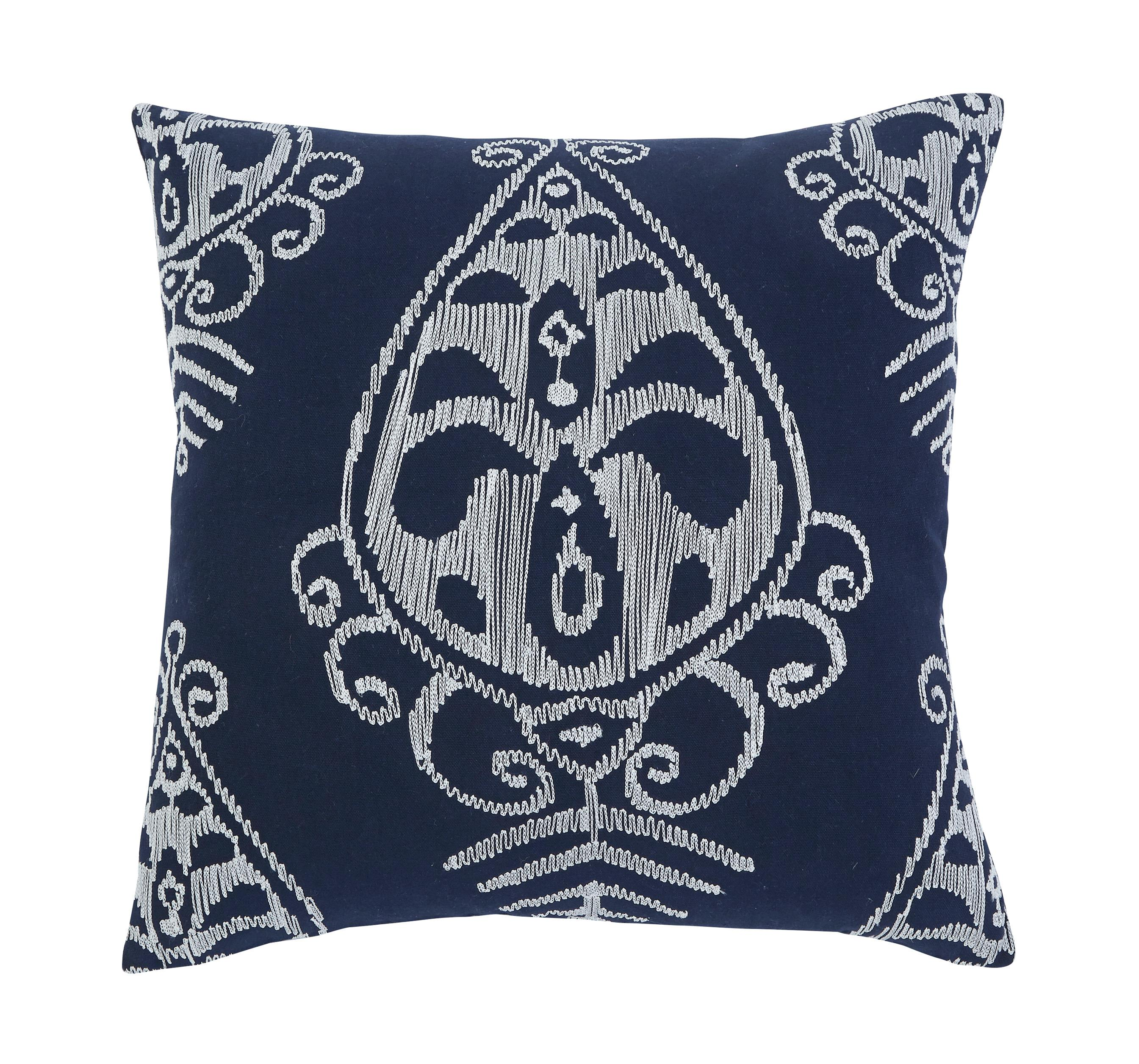 Signature Design by Ashley Pillows Embroidered - Navy Pillow Cover - Item Number: A1000291P