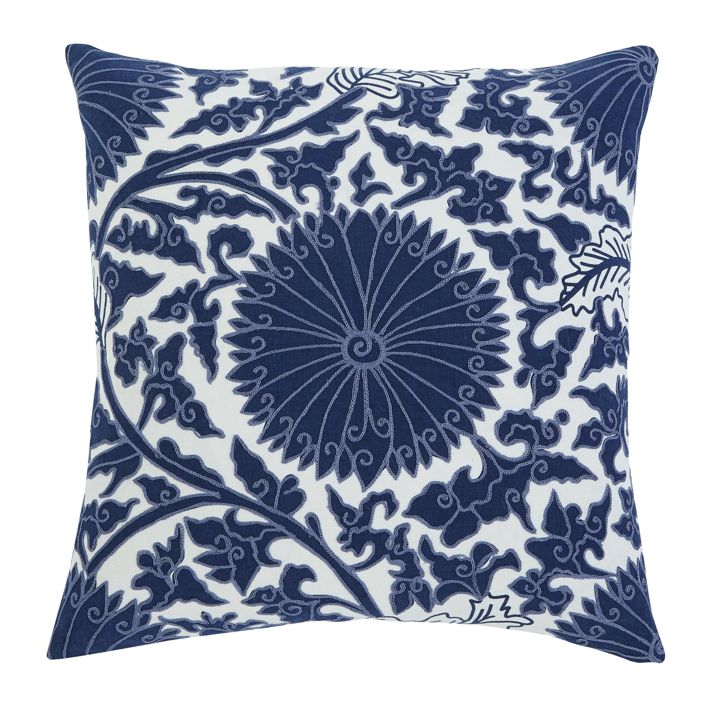 Signature Design by Ashley Pillows Medallion - Navy Pillow Cover - Item Number: A1000293P
