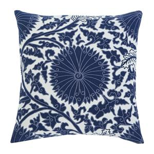 Signature Design by Ashley Pillows Medallion - Navy Pillow Cover