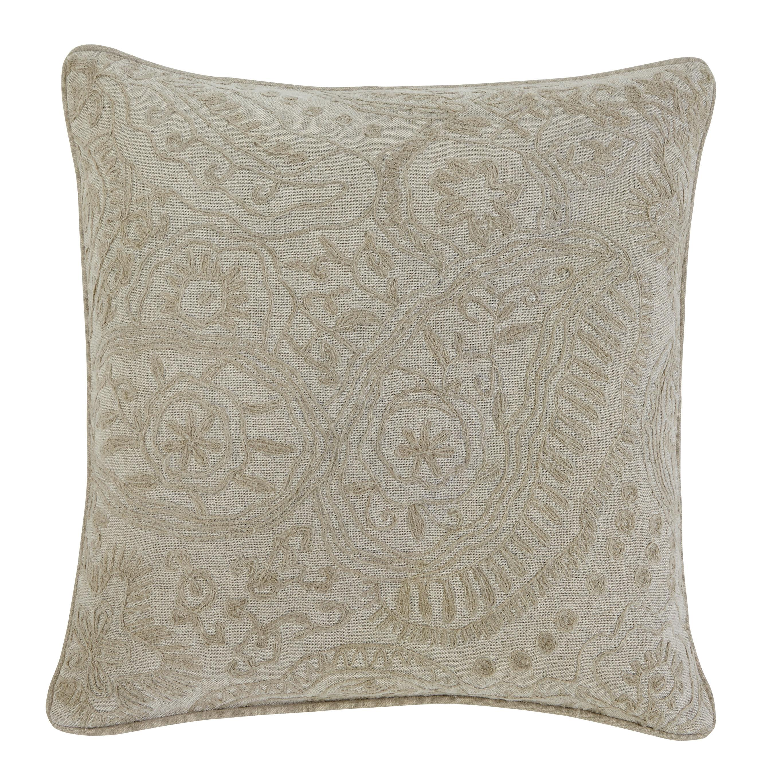 Signature Design by Ashley Pillows Stitched - Natural Pillow Cover - Item Number: A1000302P