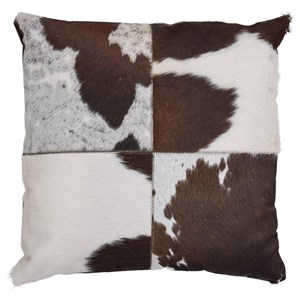 Signature Design by Ashley Pillows Teagan Dark Brown/White/Black Pillow