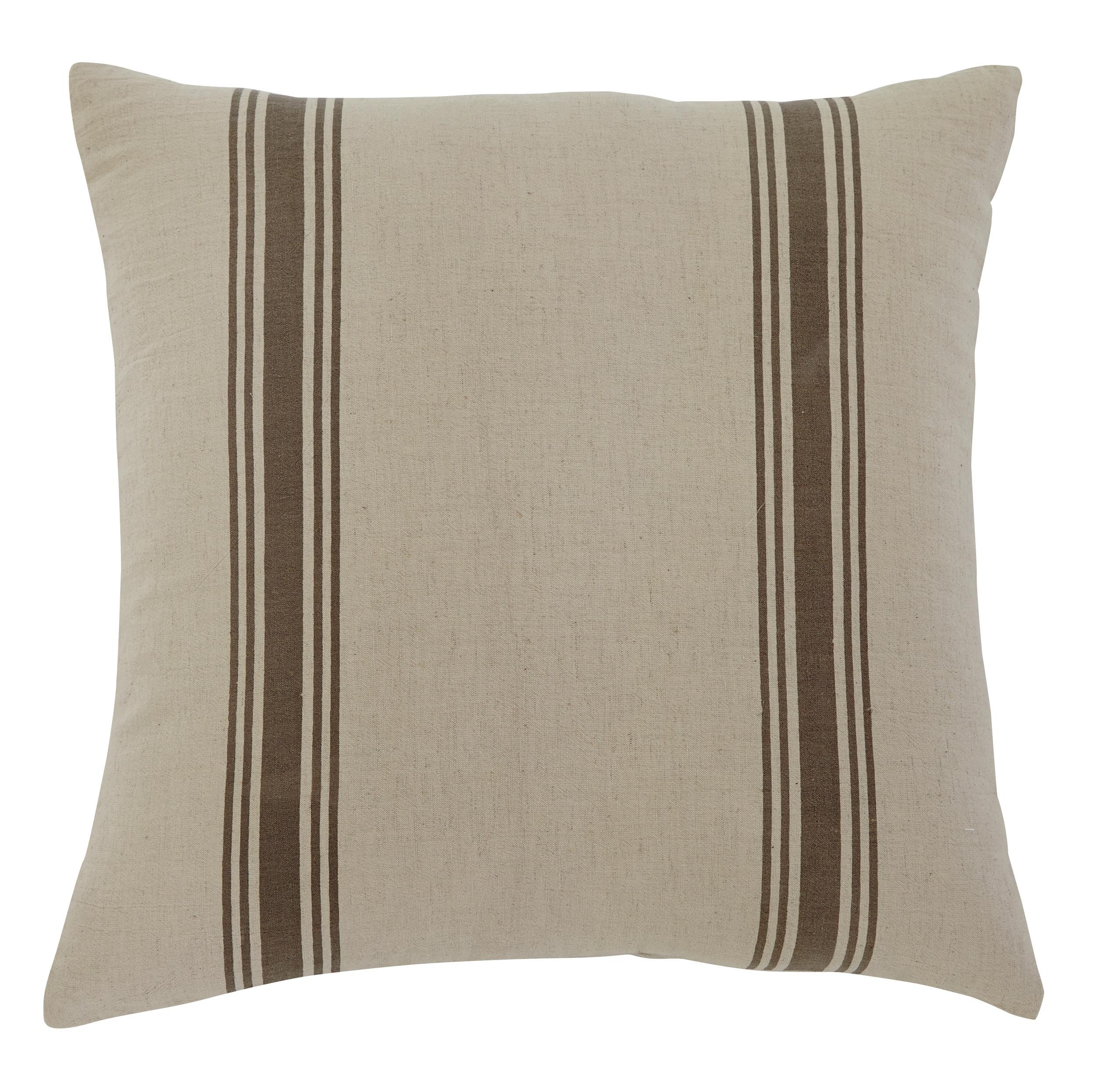 Signature Design by Ashley Pillows Striped - Natural Pillow - Item Number: A1000307P