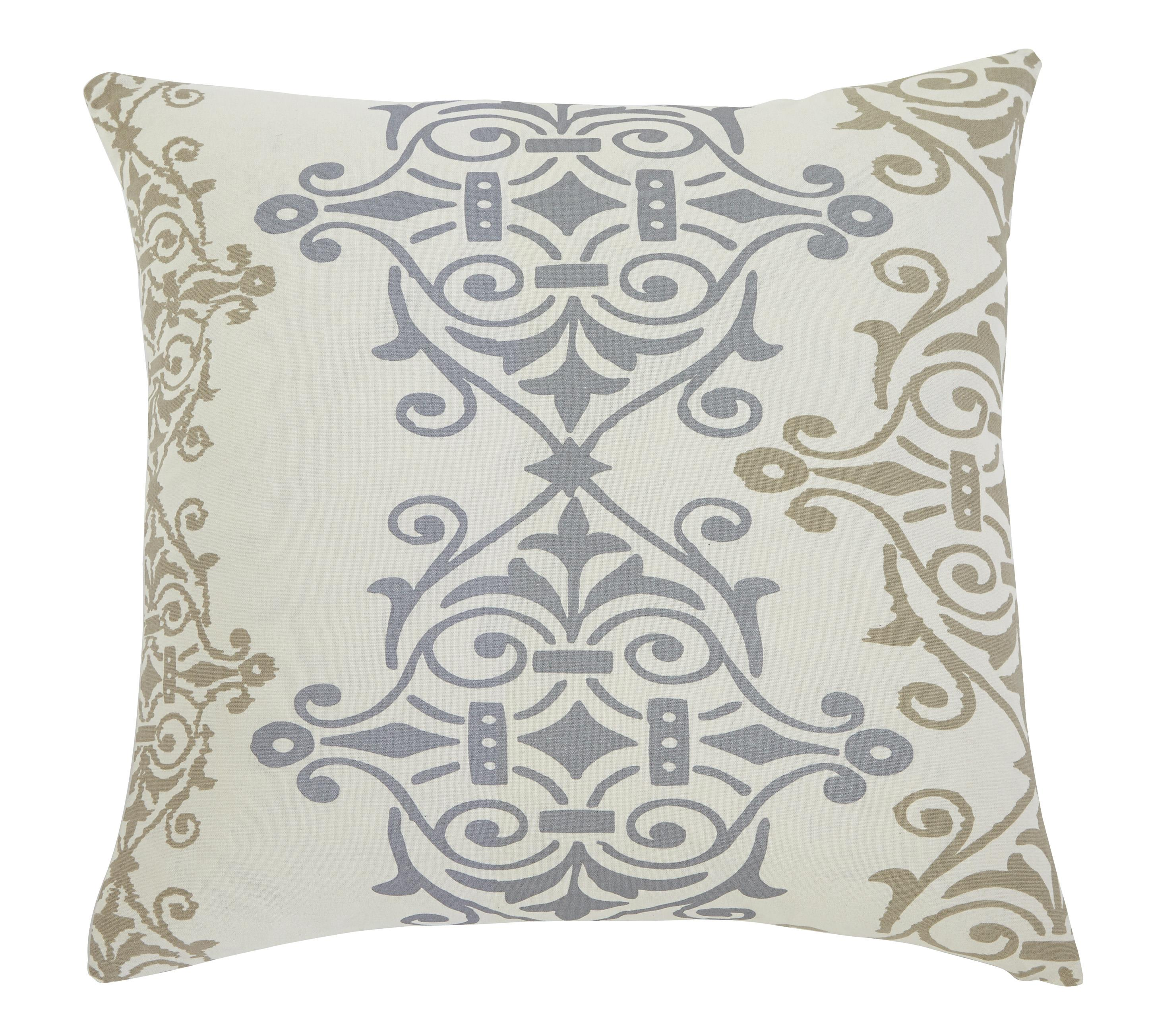 Signature Design by Ashley Pillows Scroll - Gray/Brown Pillow Cover - Item Number: A1000325P