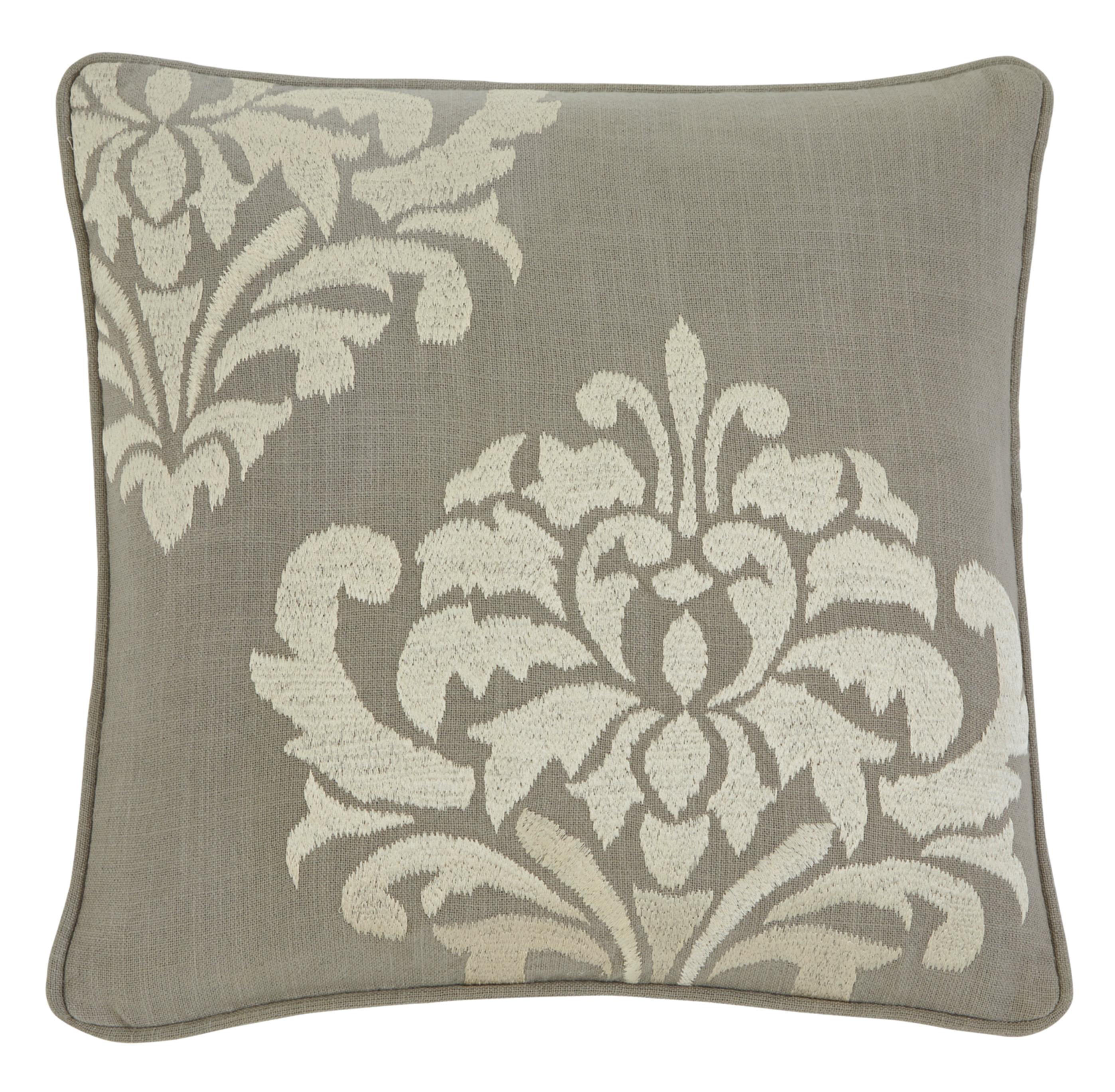 Signature Design by Ashley Pillows Damask - Gray Pillow Cover - Item Number: A1000329P