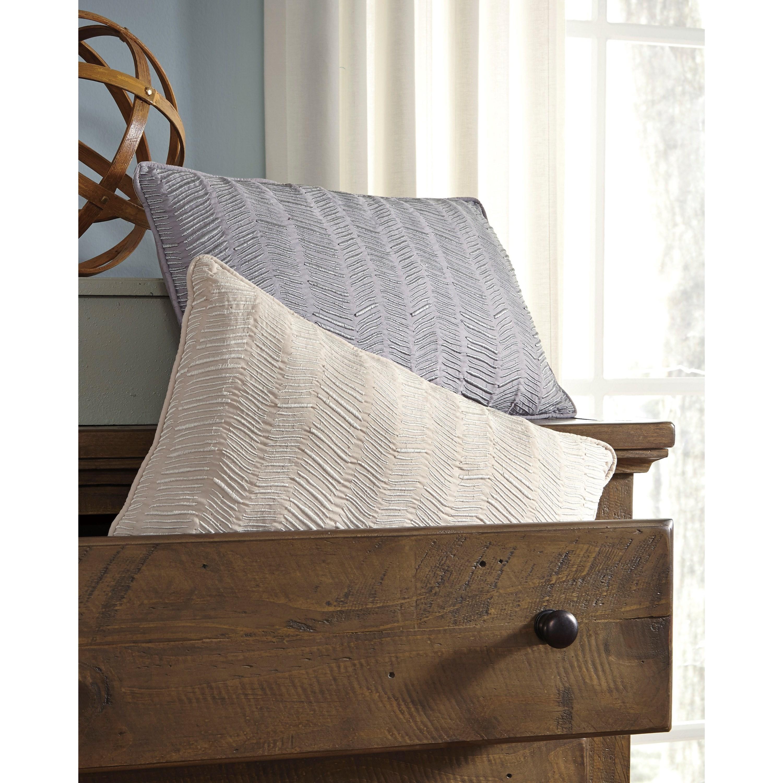 Signature Design by Ashley Pillows Canton - Gray Lumbar Pillow - Olindeu0026#39;s Furniture - Throw Pillows