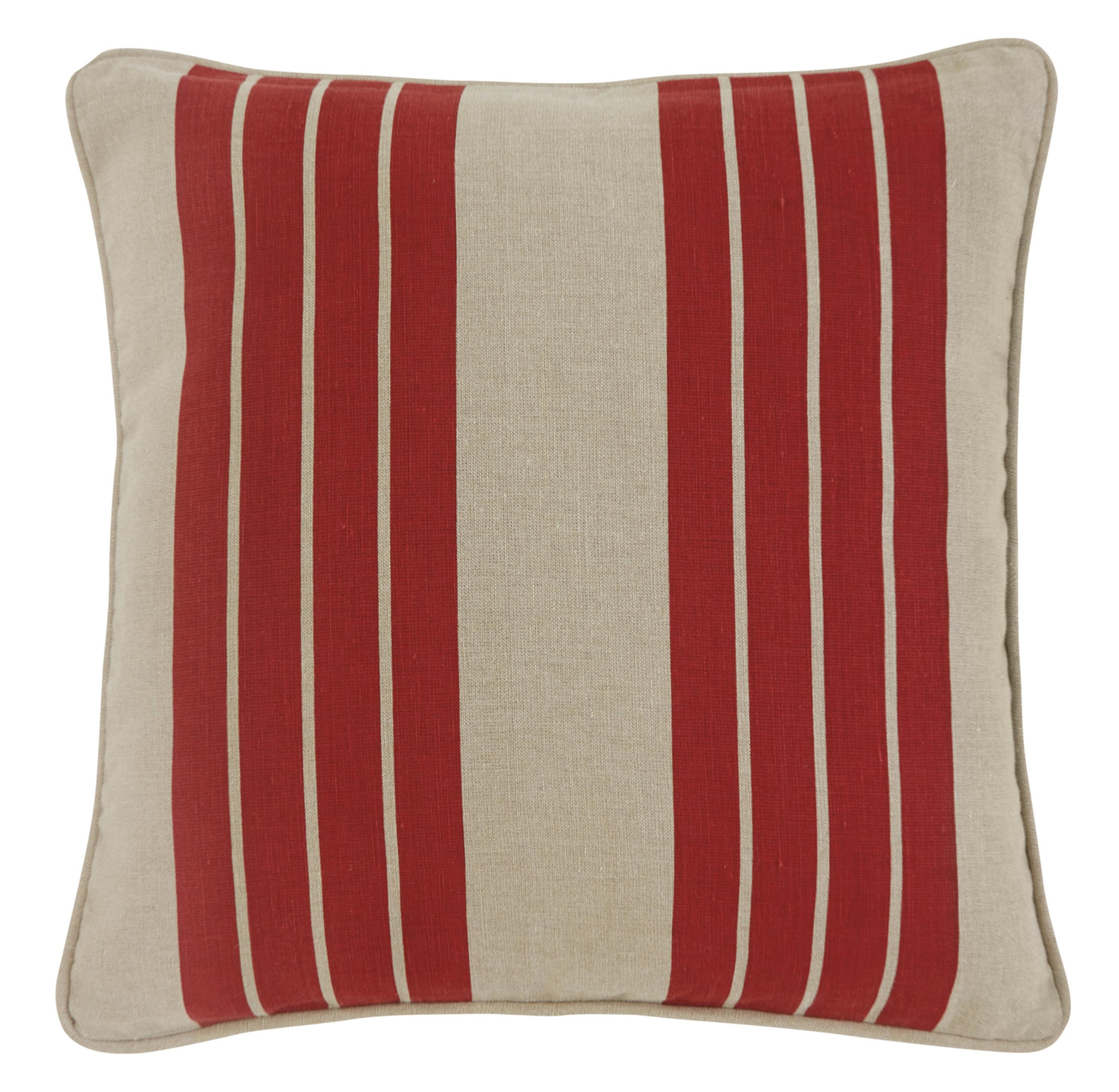 Signature Design by Ashley Pillows Striped - Red Pillow Cover - Item Number: A1000337P