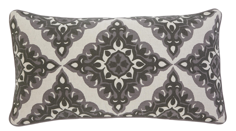 Signature Design by Ashley Pillows Geometric - Charcoal Lumbar Pillow - Item Number: A1000346P