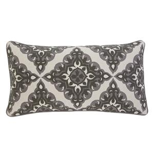 Signature Design by Ashley Pillows Geometric - Charcoal Lumbar Pillow