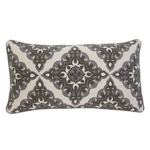 Ashley Signature Design Pillows Geometric - Charcoal Lumbar Pillow