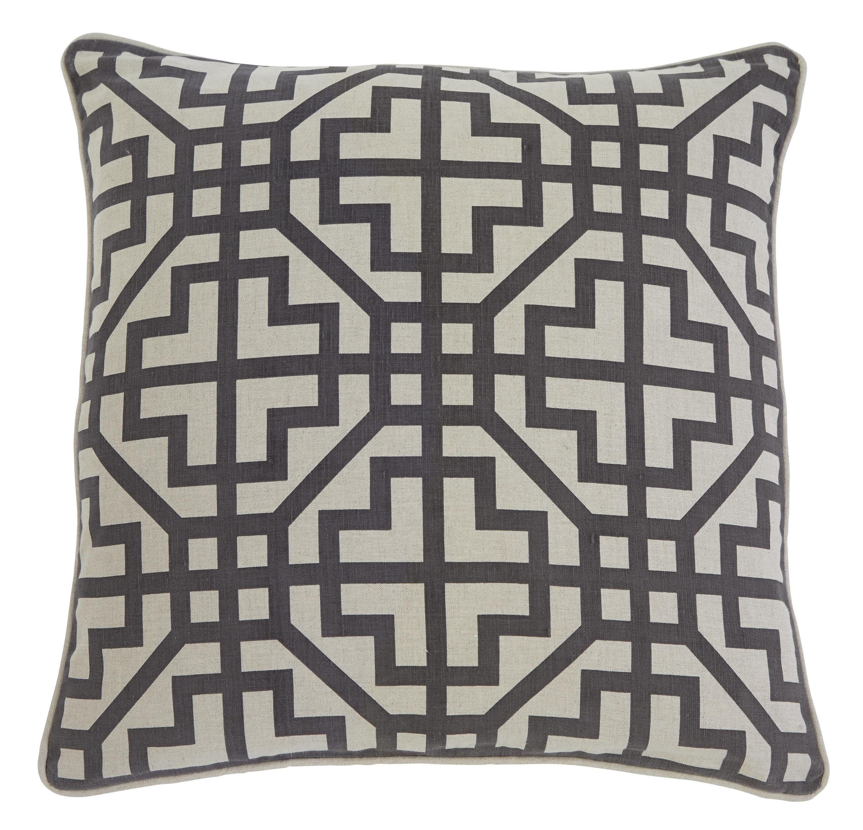 Signature Design by Ashley Pillows Geometric - Charcoal Pillow Cover - Item Number: A1000347P