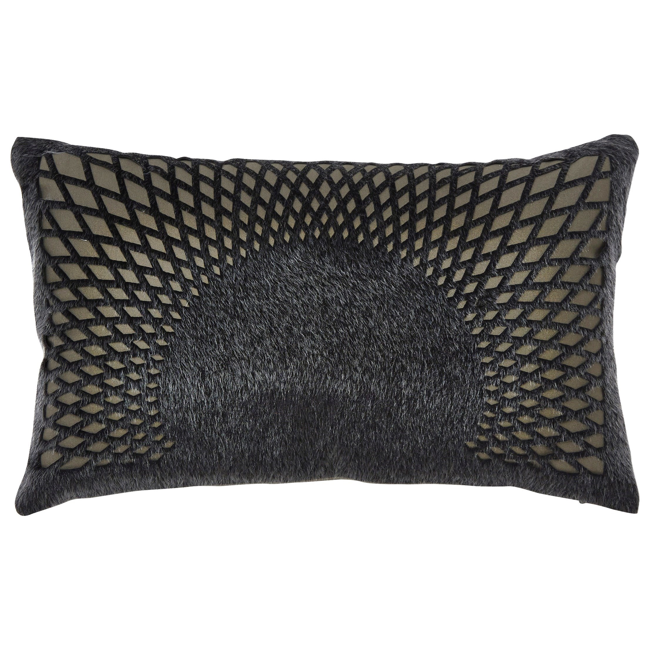 Signature Design by Ashley Pillows Lazarus Black Pillow - Item Number: A1000352P