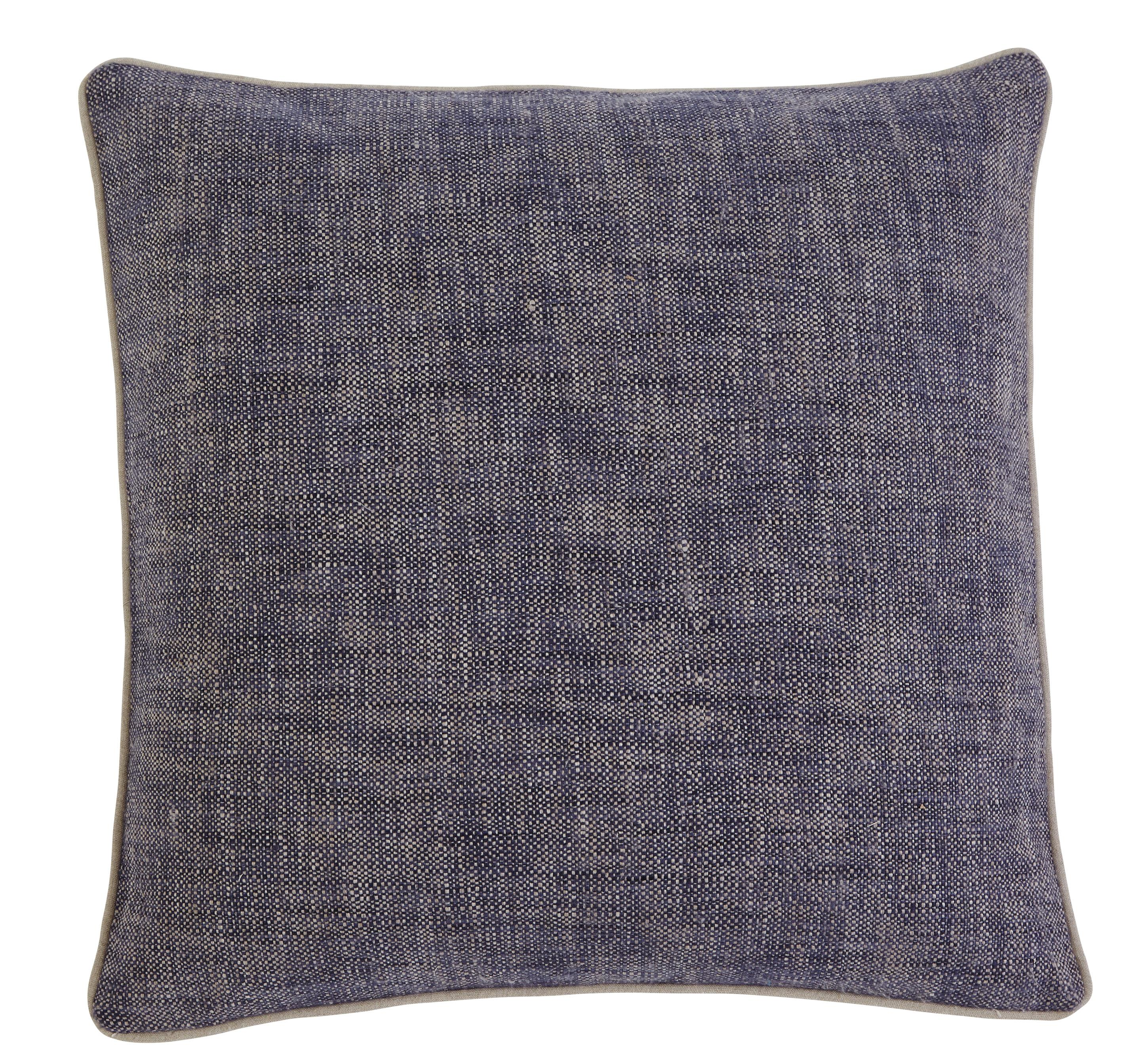 Signature Design by Ashley Pillows Textured - Navy Pillow Cover - Item Number: A1000355P