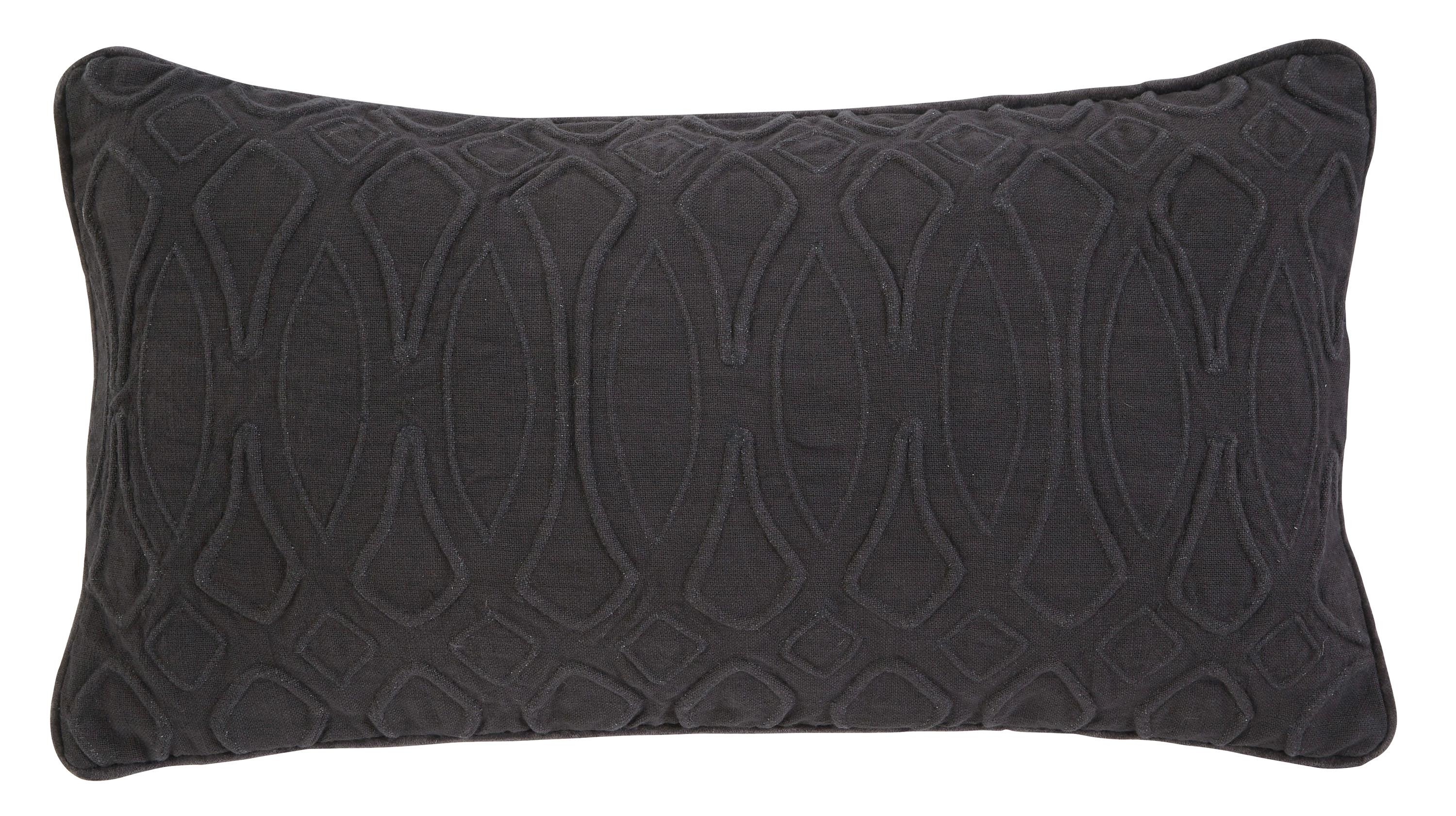 Signature Design by Ashley Pillows Solid - Ink Lumbar Pillow - Item Number: A1000361P