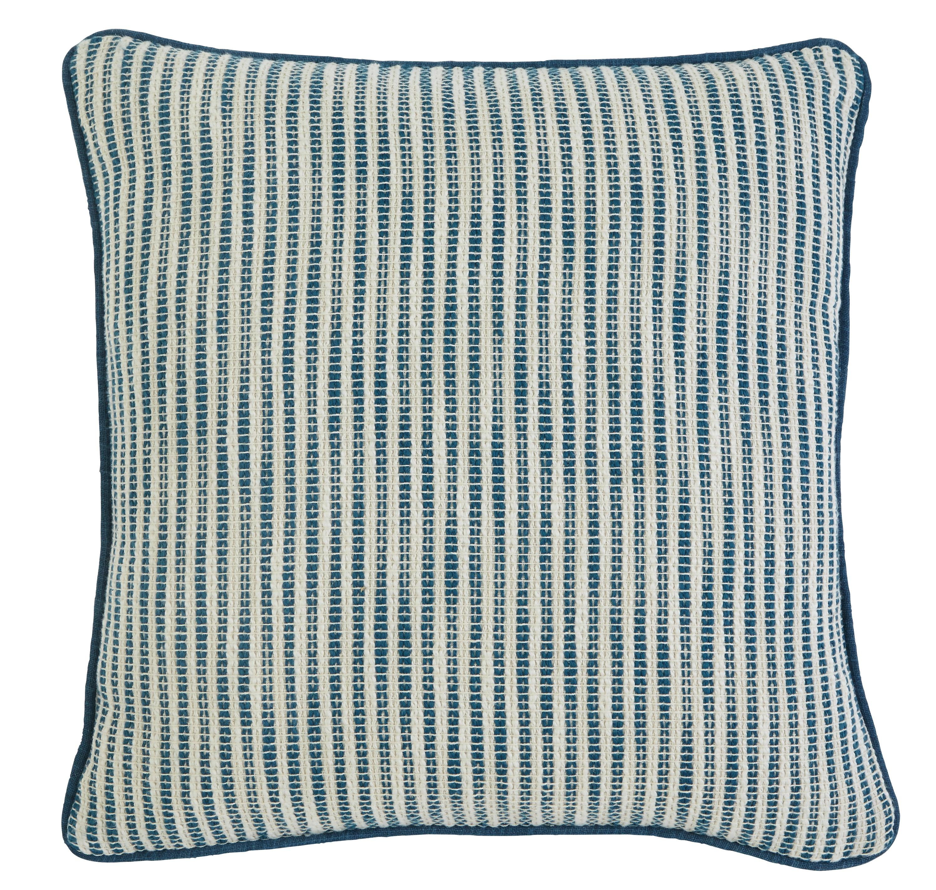 Signature Design by Ashley Pillows Striped - Turquoise - Item Number: A1000363P