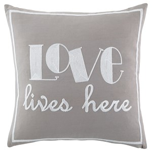 Signature Design by Ashley Pillows Love Gray Pillow