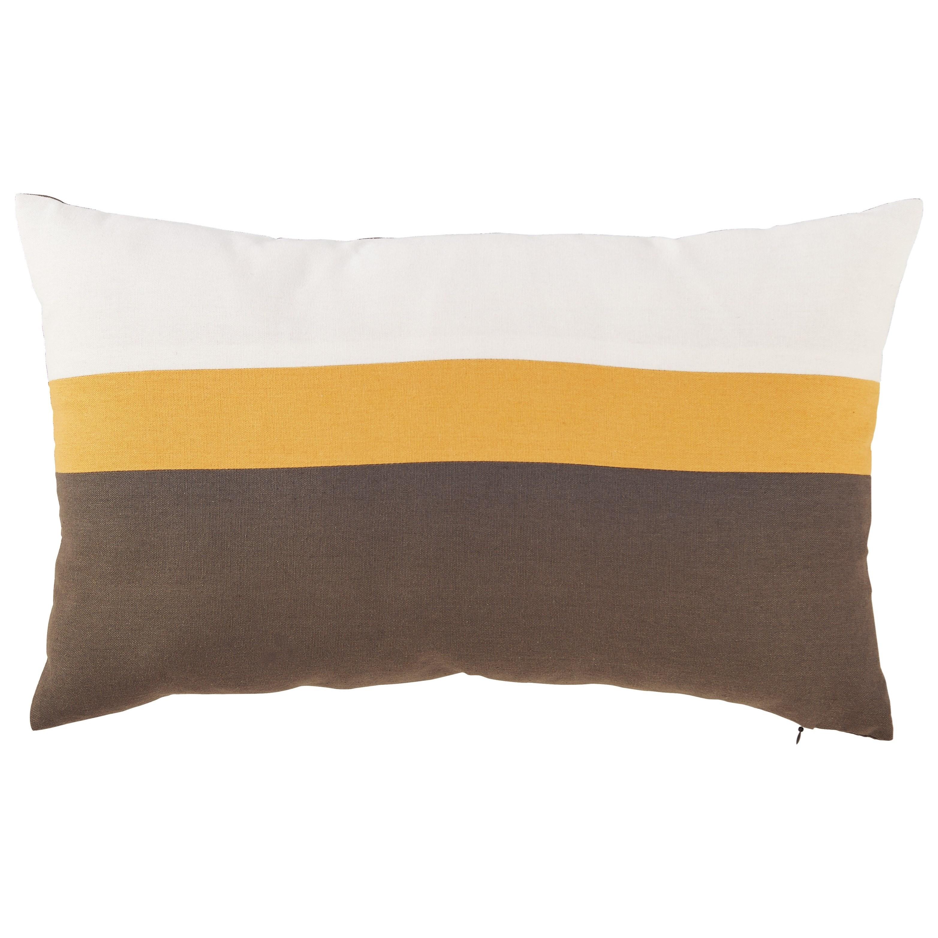 Jacop Gray/Yellow/White Pillow