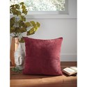 Signature Design by Ashley Pillows Jinelle Brick Red Pillow