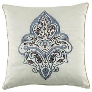 Signature Design by Ashley Pillows Mykel Cream/Blue Pillow