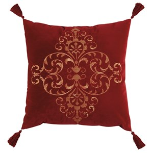 Signature Design by Ashley Pillows Amiela Scarlet Pillow