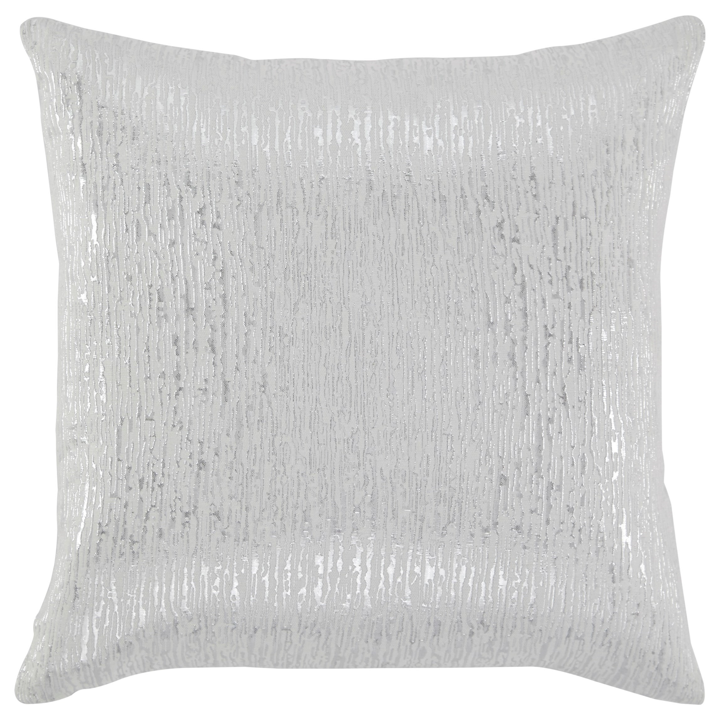 Signature Design by Ashley Pillows Tacey Off White/Silver Pillow - Item Number: A1000478P