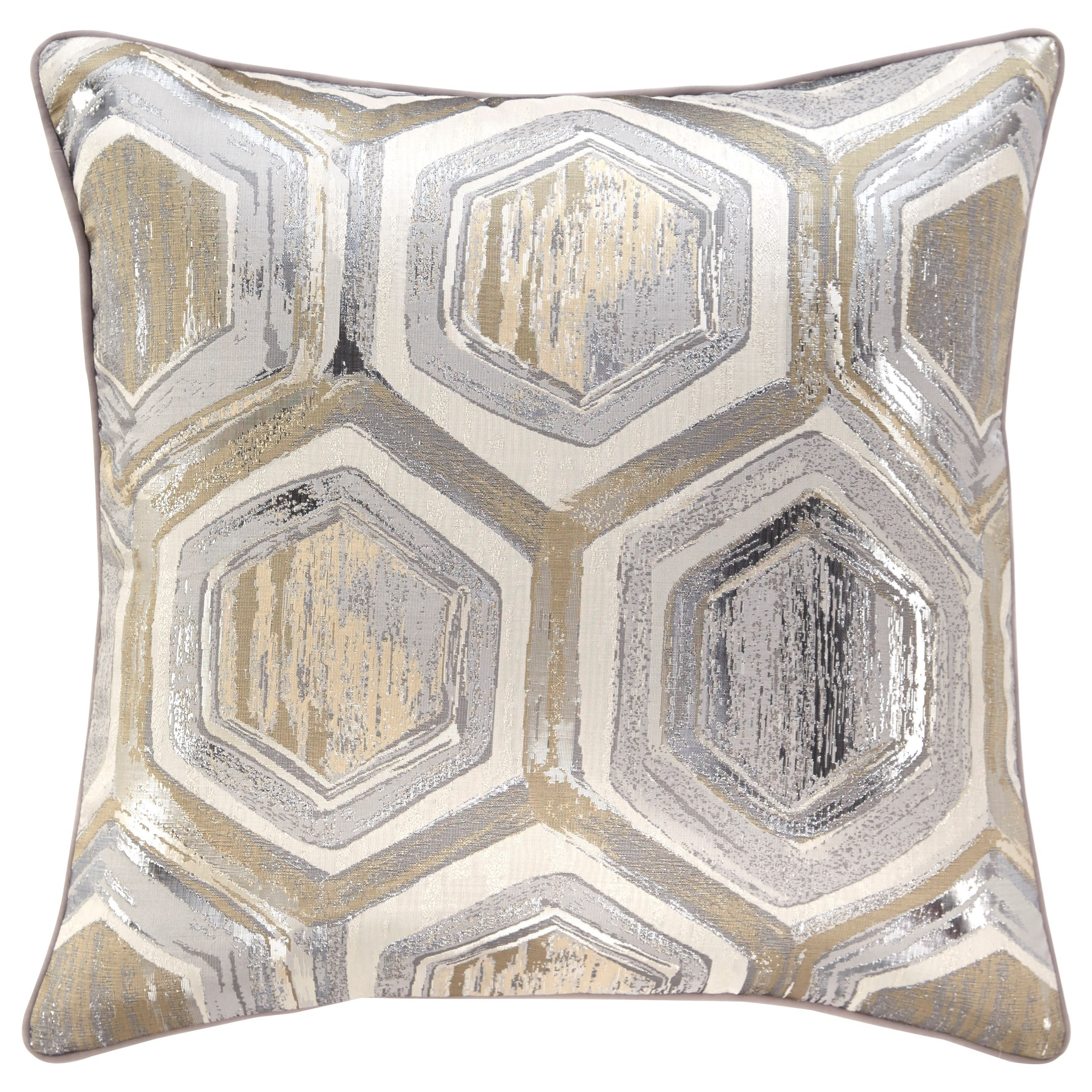 Signature Design by Ashley Pillows Meiling Metallic Pillow - Item Number: A1000480P