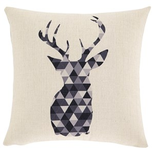 Signature Design by Ashley Pillows Prineville Natural/Charcoal Pillow