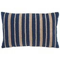 Signature Design by Ashley Pillows Zackery Blue Pillow - Item Number: A1000520P