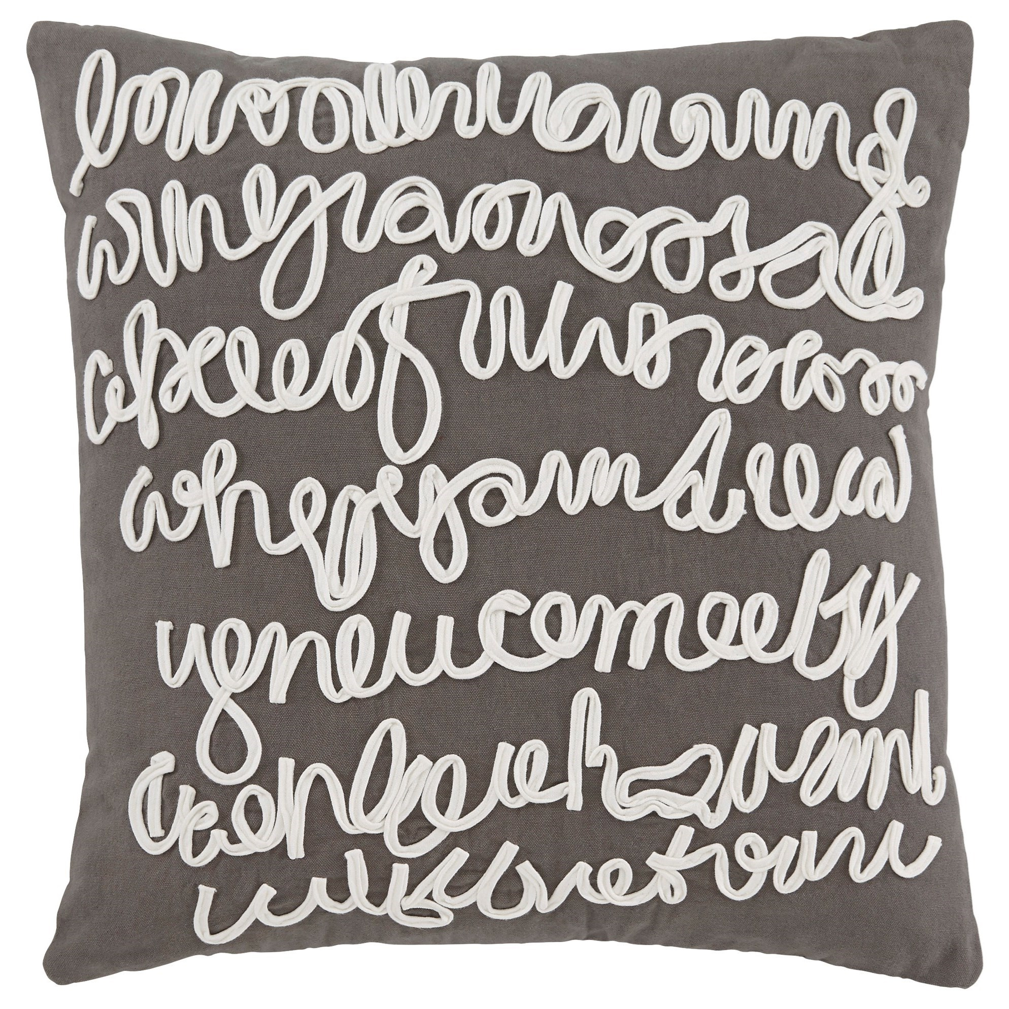 Signature Design by Ashley Pillows Alfie - Gray Pillow Cover - Item Number: A1000534P