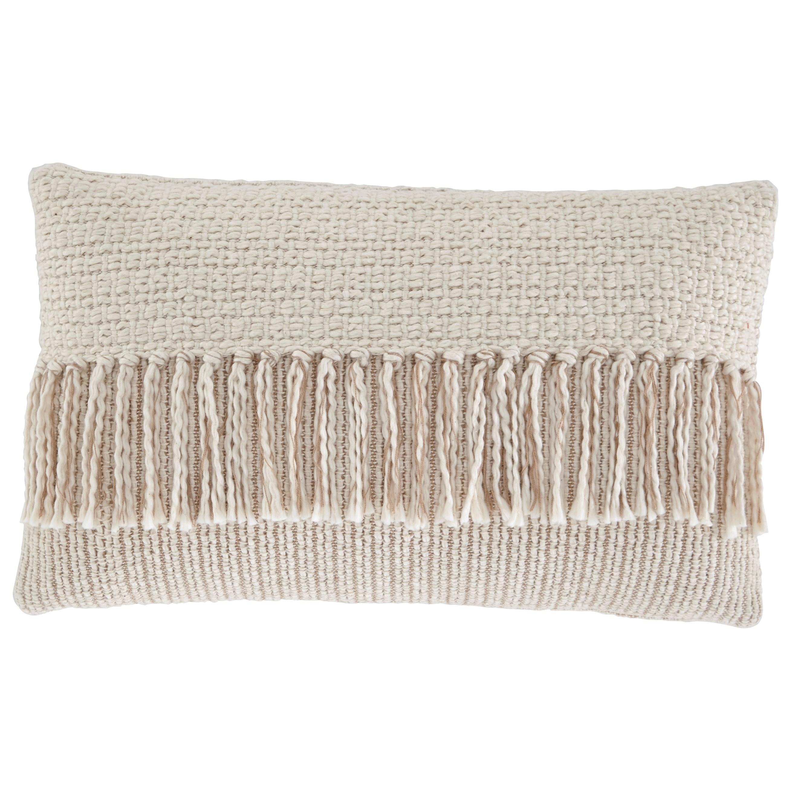 Signature Design by Ashley Pillows Medea Tan/Cream Pillow - Item Number: A1000565P