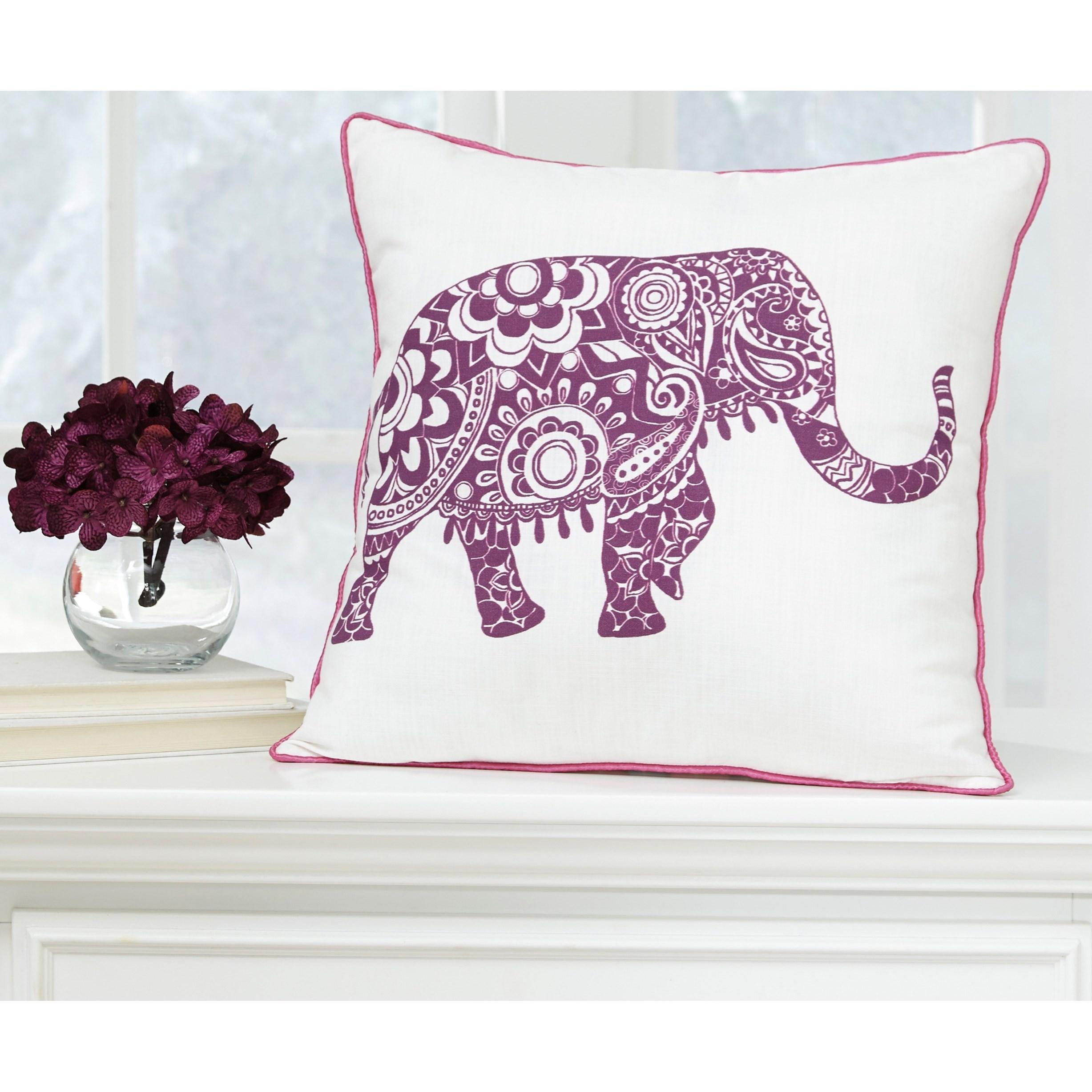 Signature Design By Ashley Pillows Medan White/Purple