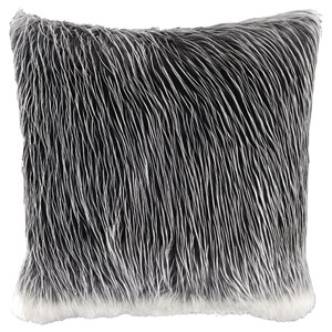 Signature Design by Ashley Pillows Thelma Black/White Faux Fur Pillow