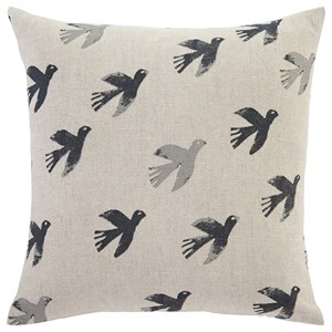 Signature Design by Ashley Pillows Draven Gray/Natural Pillow Cover
