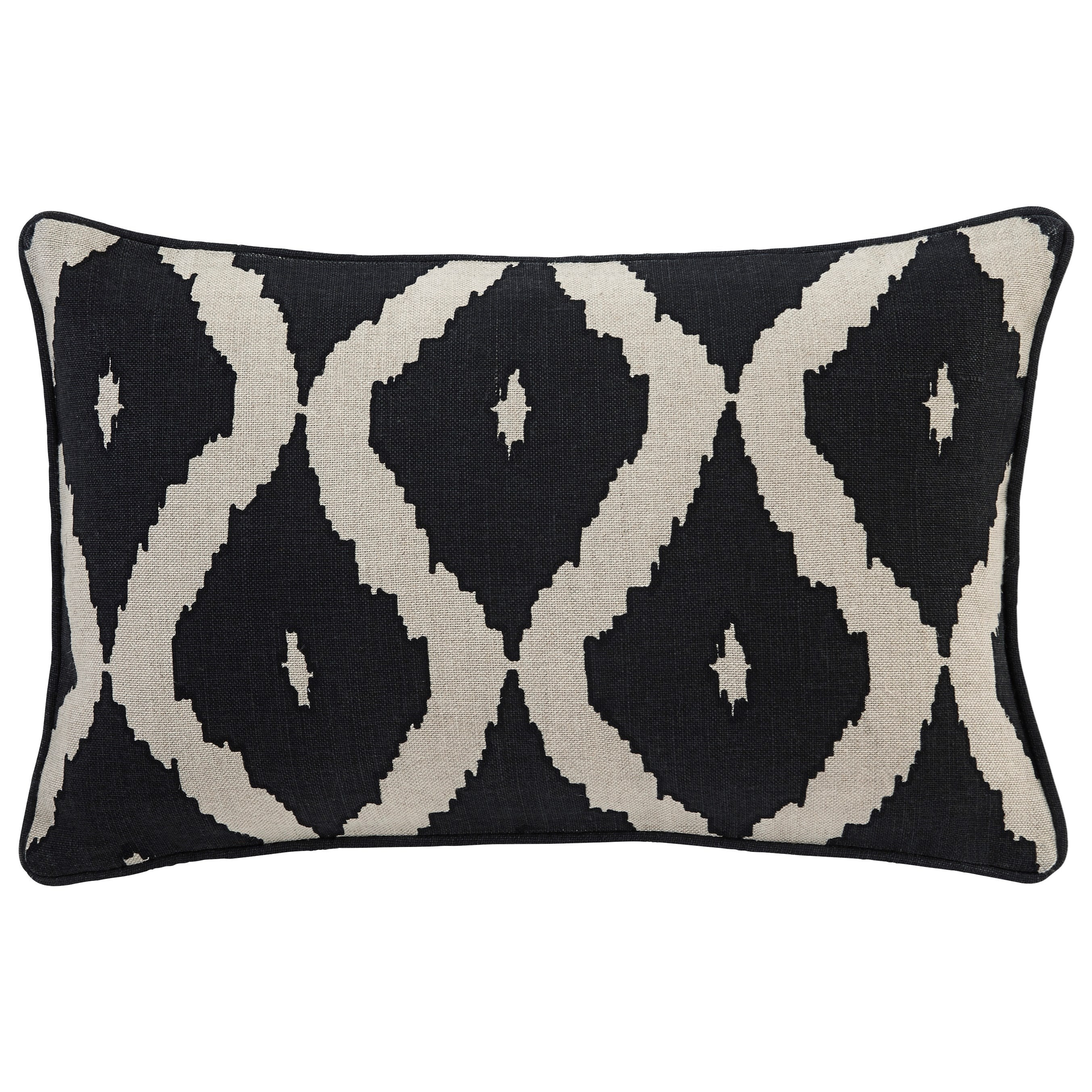 Signature Design by Ashley Pillows Tildy - Black/Natural Lumbar Pillow - Item Number: A1000651P