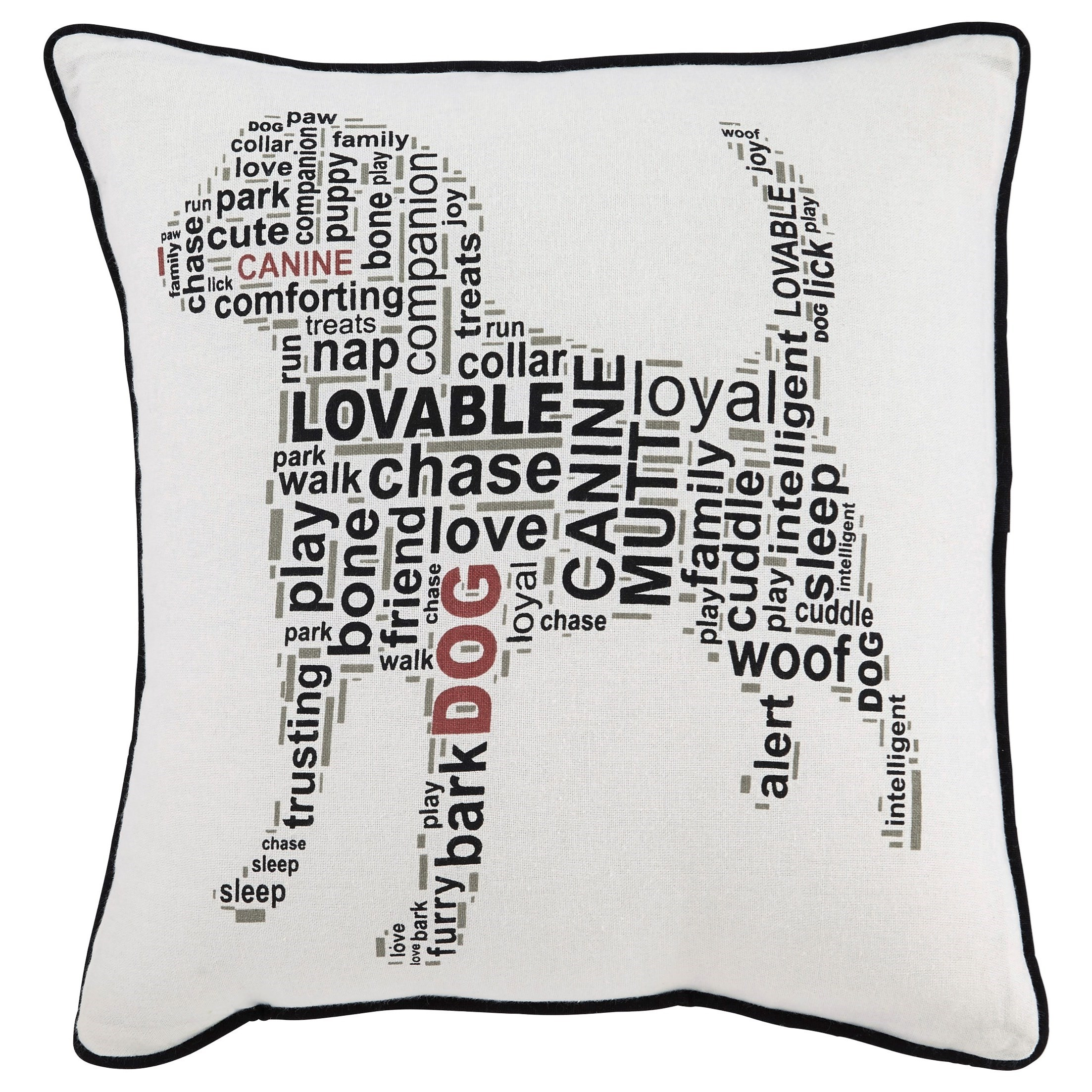Signature Design by Ashley Pillows Beals White/Black Pillow - Item Number: A1000694P