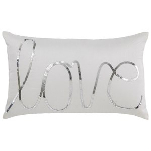 Ashley Signature Design Pillows Newry - Silver/White Pillow