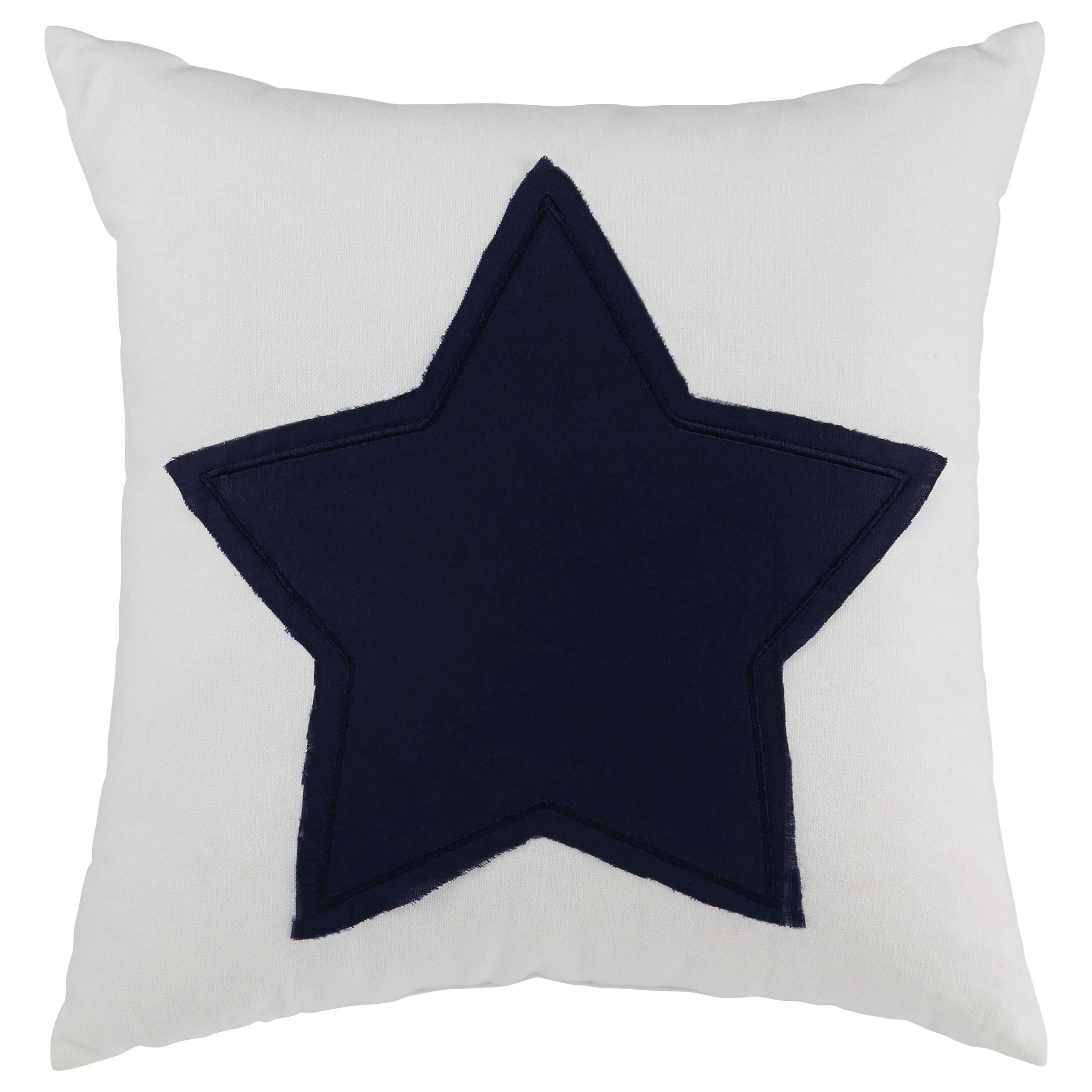 Signature Design by Ashley Pillows Gilead - White/Navy Pillow - Item Number: A1000718P