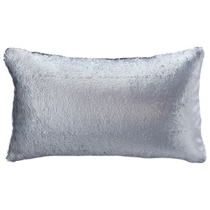 Signature Design by Ashley Pillows Priscella Silver Memaid Pillow