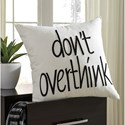 Signature Design by Ashley Pillows Don't Overthink White Pillow