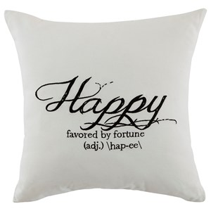 Signature Design by Ashley Pillows Happy - White Pillow