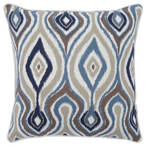 Signature Design by Ashley Pillows Russell Brown/Blue Pillow