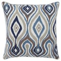 Signature Design by Ashley Pillows Russell Brown/Blue Pillow - Item Number: A1000777P