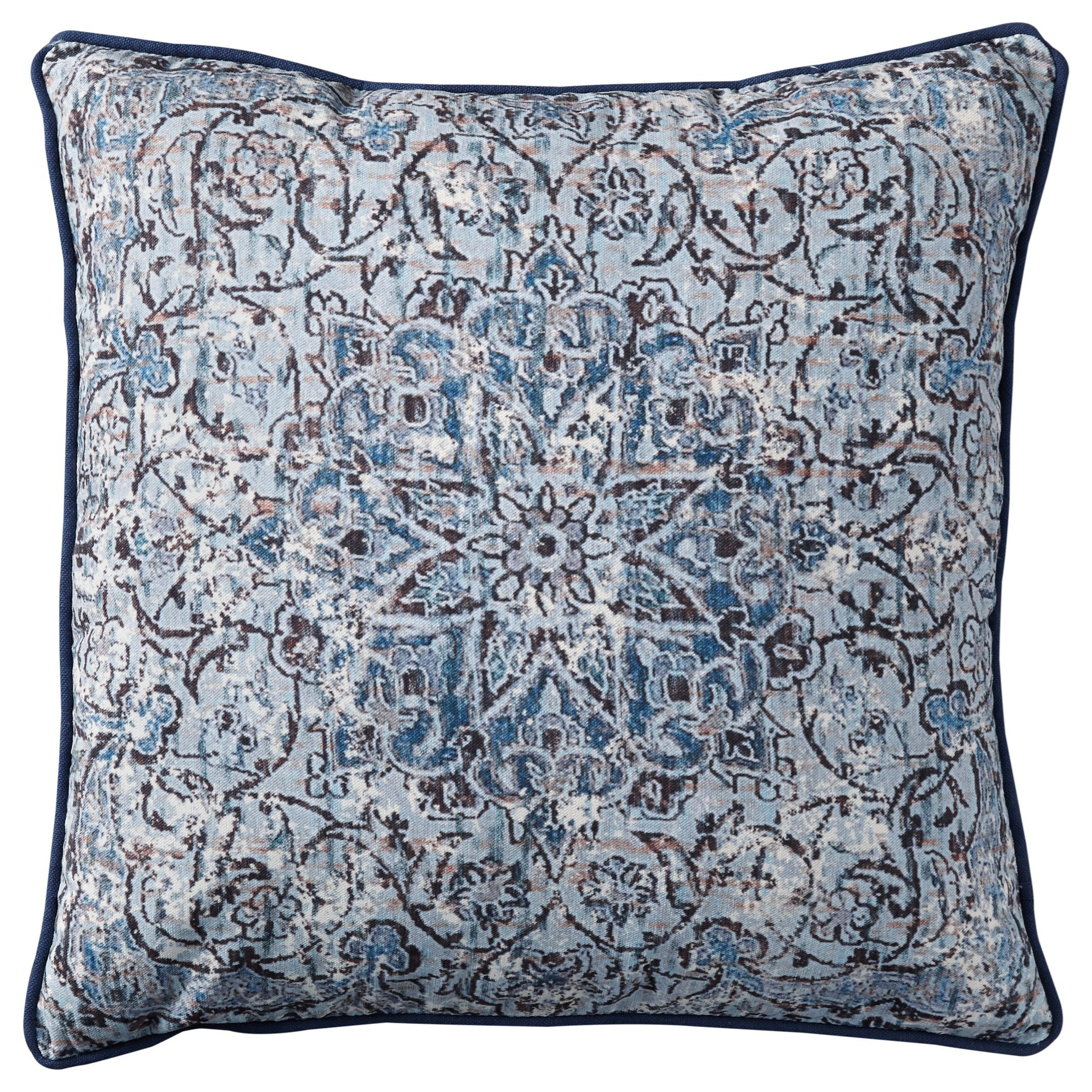 Signature Design by Ashley Pillows Mariah Blue Pillow - Item Number: A1000779P