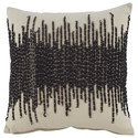 Signature Design by Ashley Pillows Warneka Charcoal/Cream Pillow - Item Number: A1000807P