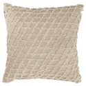 Signature Design by Ashley Pillows Mayten Tan/White Pillow - Item Number: A1000818P